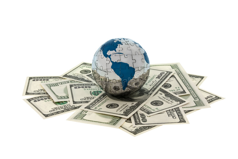 Money and Globe stock images