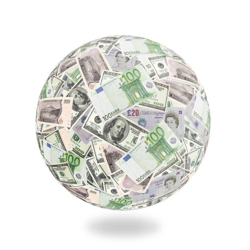 Free Money Goes Around The Globe Royalty Free Stock Image - 1894256