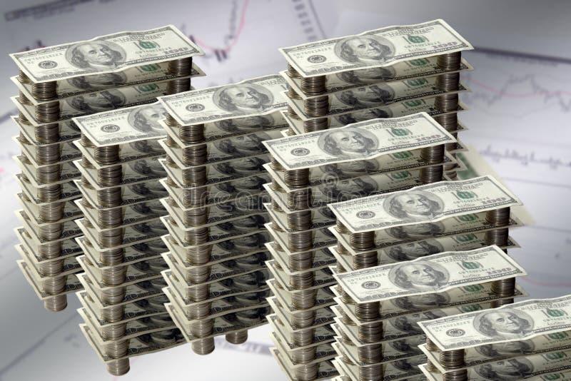 Money graph. (dollar, cent, house stock photography