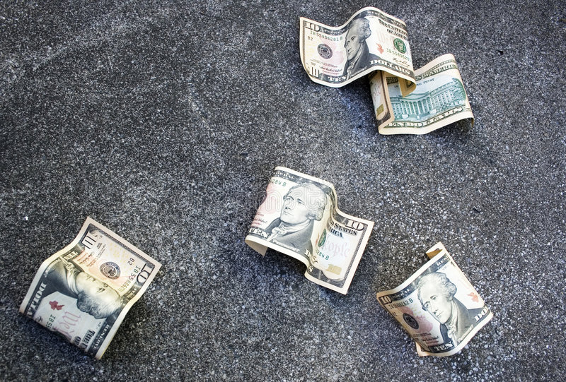 Download Money on the ground stock image. Image of discard, away - 6979289