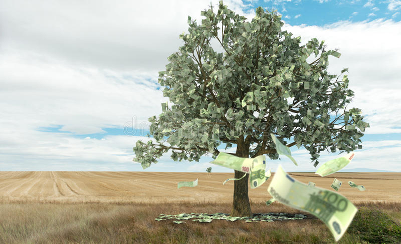 Money growing on trees royalty free illustration