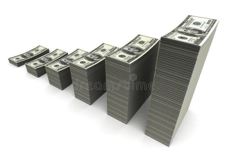 Download Money Growth stock illustration. Image of currency, stack - 25636190