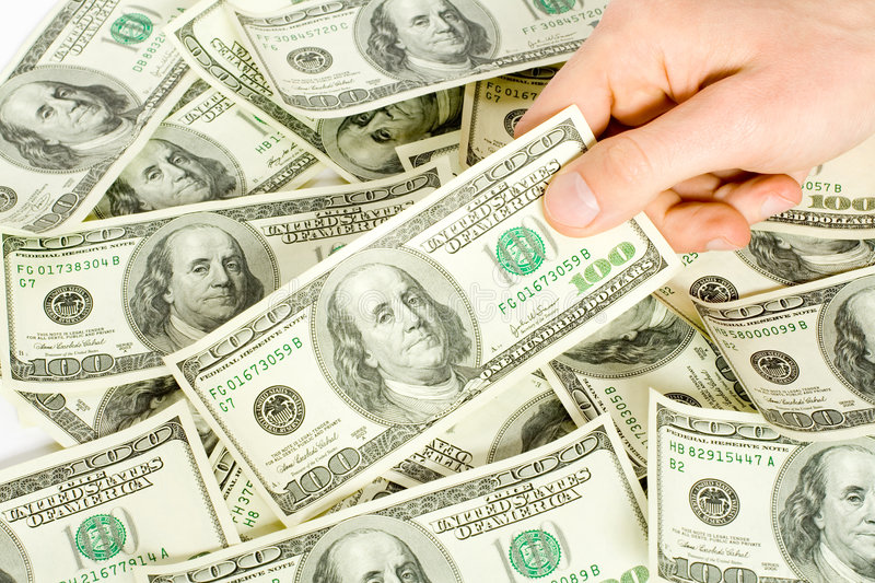 Money with hand royalty free stock photography