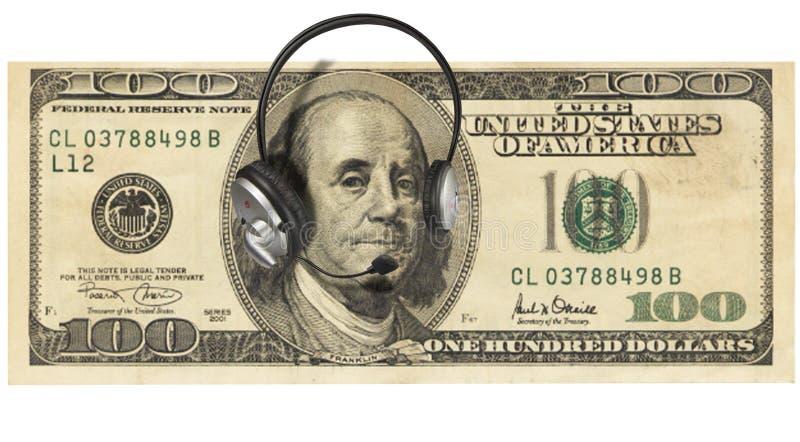 Money with Headphones stock photo