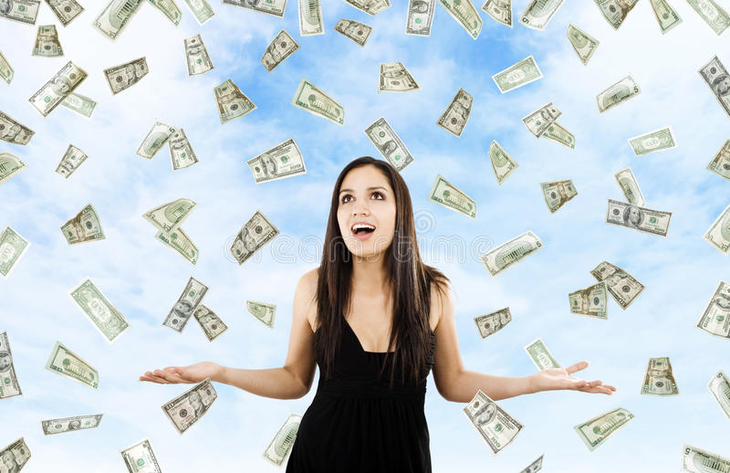 Money from Heaven royalty free stock photo