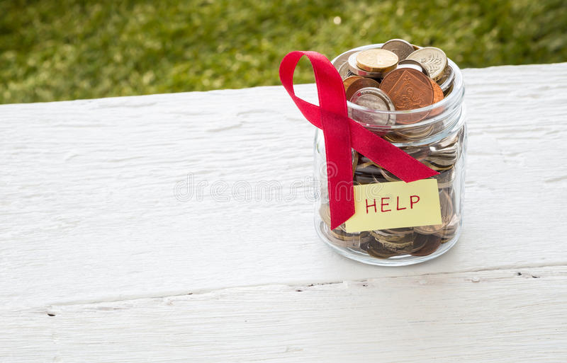 Money help cancer patients royalty free stock photo