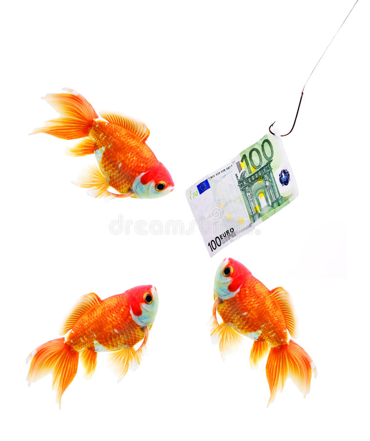 Money on the hook stock photography