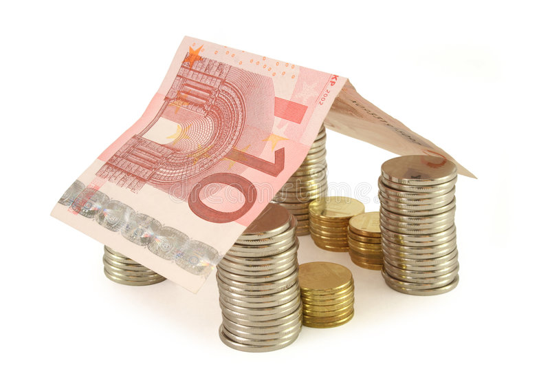 Money house 2 royalty free stock photo
