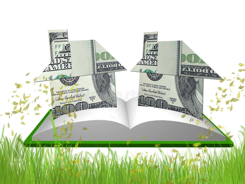 Download Money House Origami In The Meadow Stock Illustration - Image: 11870957