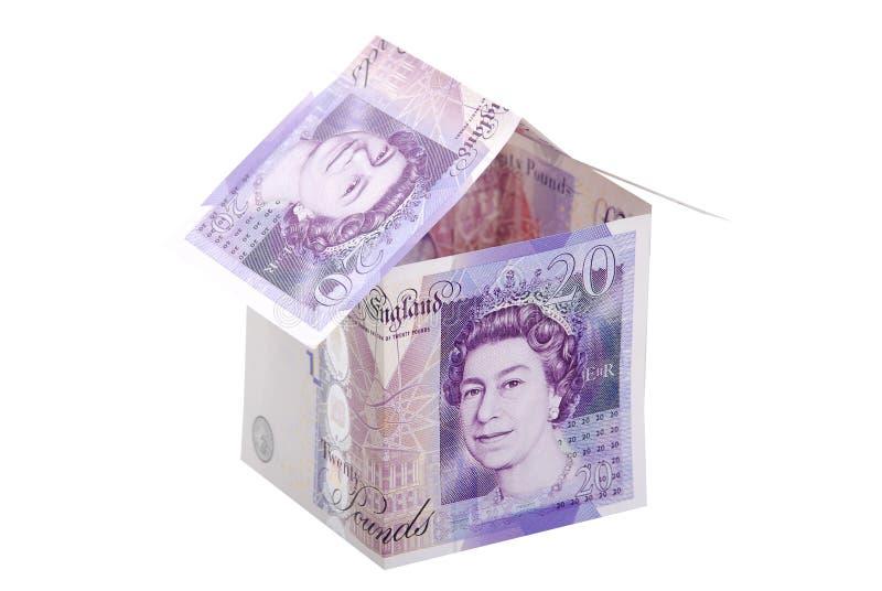 Money house white background. Money house isolated on white high resolution image royalty free stock photography