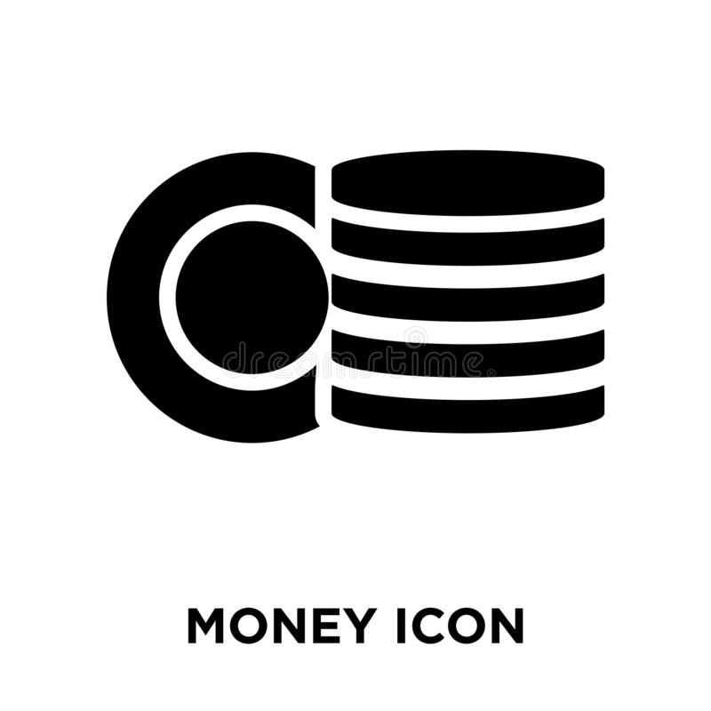 Money icon  vector isolated on white background, logo concept o stock illustration