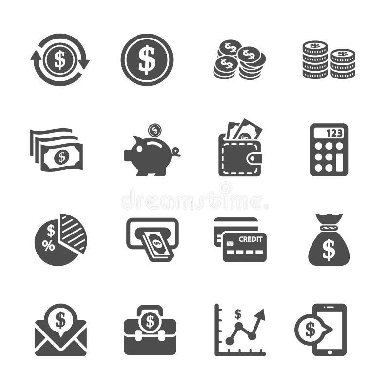 Money icon set, vector eps10.  stock illustration