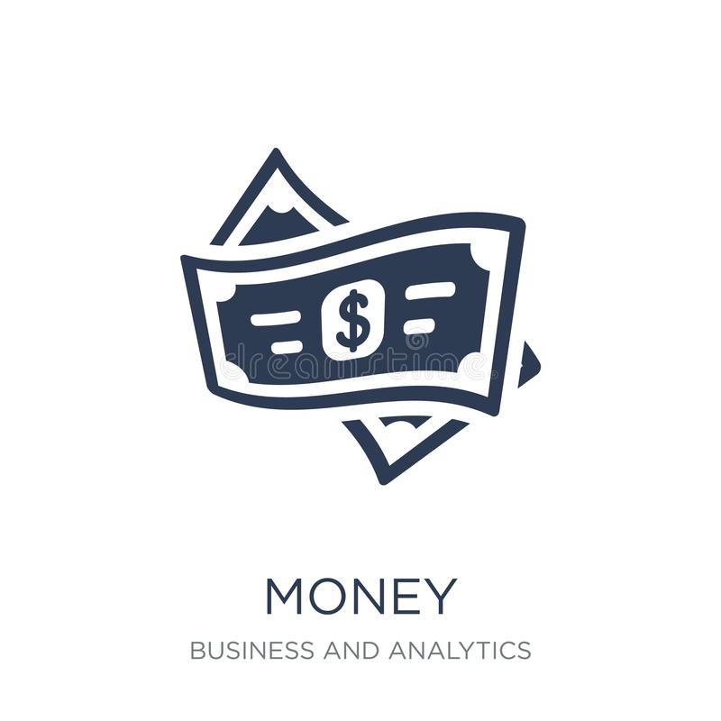 Money icon. Trendy flat vector Money icon on white background fr. Om Business and analytics collection, vector illustration can be use for web and mobile, eps10 vector illustration