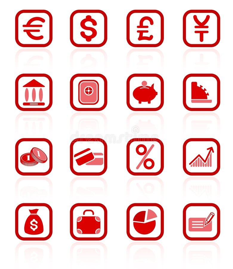 Money icons. Money raster iconset. Vector version is available in my portfolio royalty free illustration