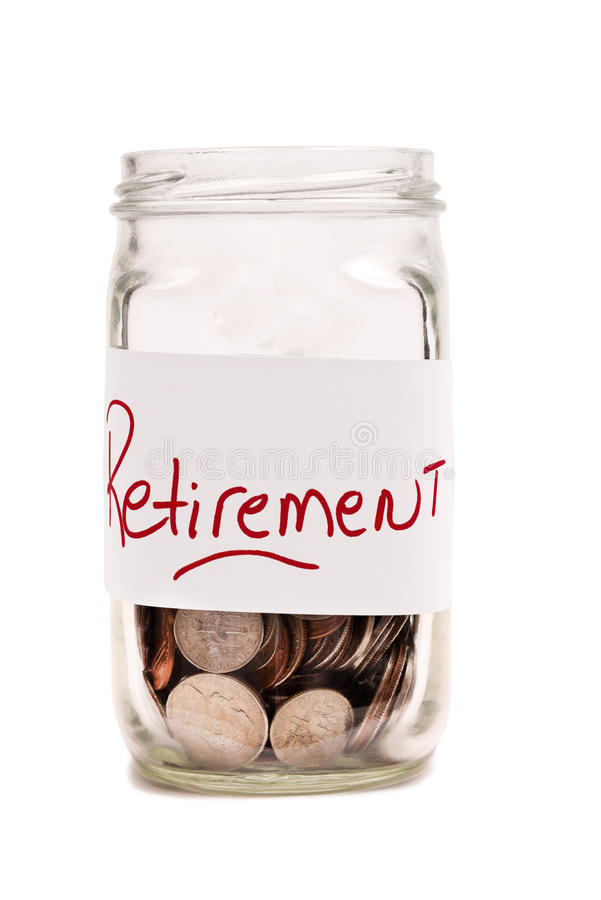 Free Money In Jar For Retirement XXXL Royalty Free Stock Photo - 29300675