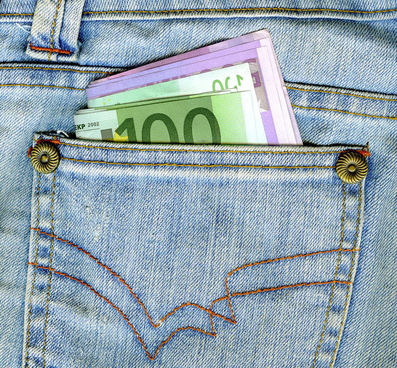 Free Money In Pocket Stock Image - 6303231