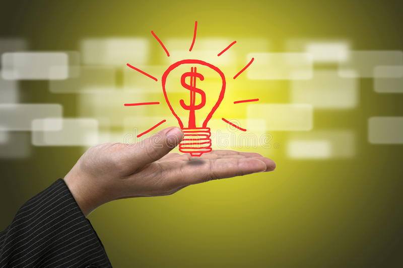 Money from Innovation stock photography