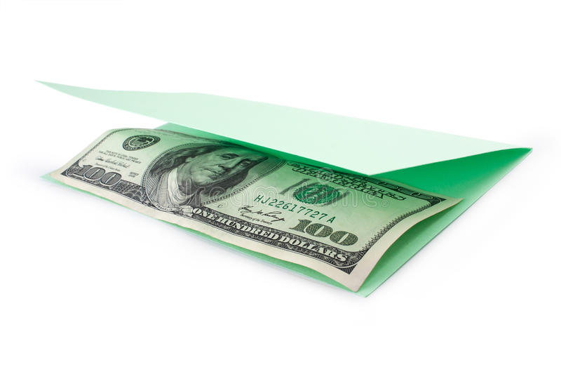 Download Money Inside Opening Postcard Stock Photo - Image: 38561206