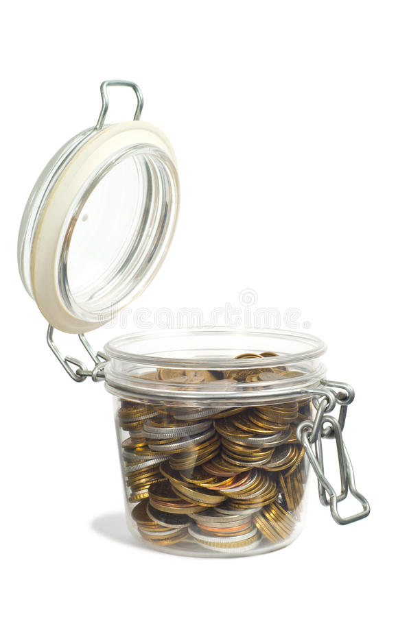 Download Money in a Jar stock photo. Image of money, open, coins - 26788056