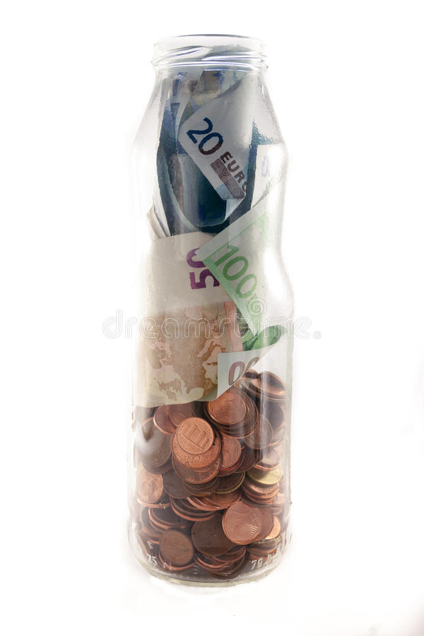 Money jar stock photos