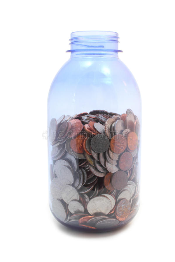 Download Money Jar - high angle stock photo. Image of isolated - 24235824