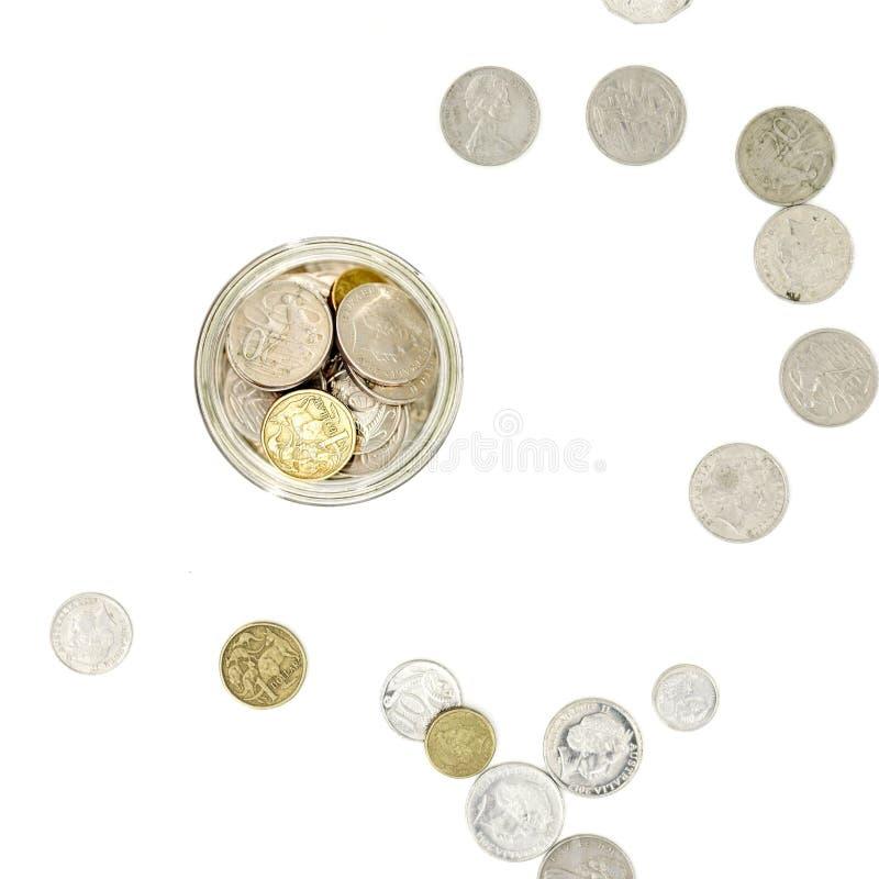 Money Jar. A studio photo of a money jar stock photography