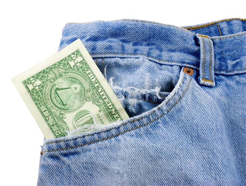 Download Money in Jean Pocket stock photo. Image of bank, clothing - 6606056