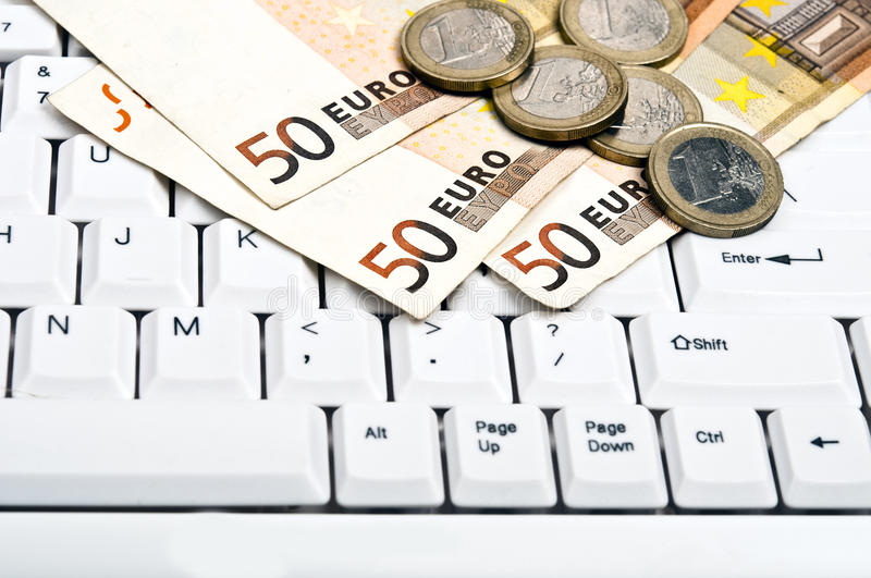 Download Money on keyboard stock image. Image of office, financial - 20696403