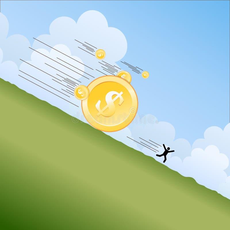 Money Landslide Stock Photography