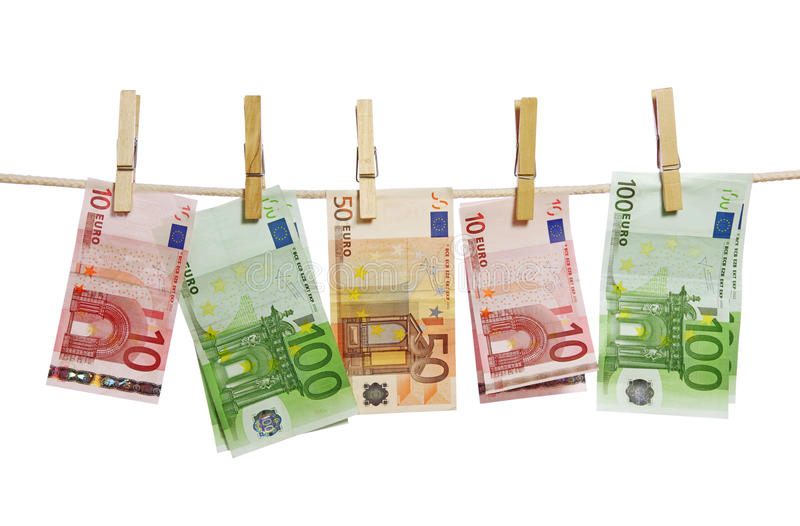 Download Money Laundering On Clothesline Stock Photo - Image: 13872160
