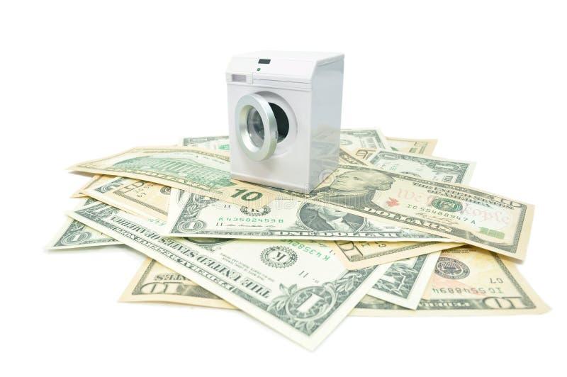 Money laundry stock image