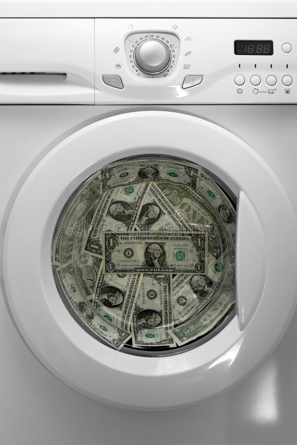 Money laundry. A concept image for money laundry stock image