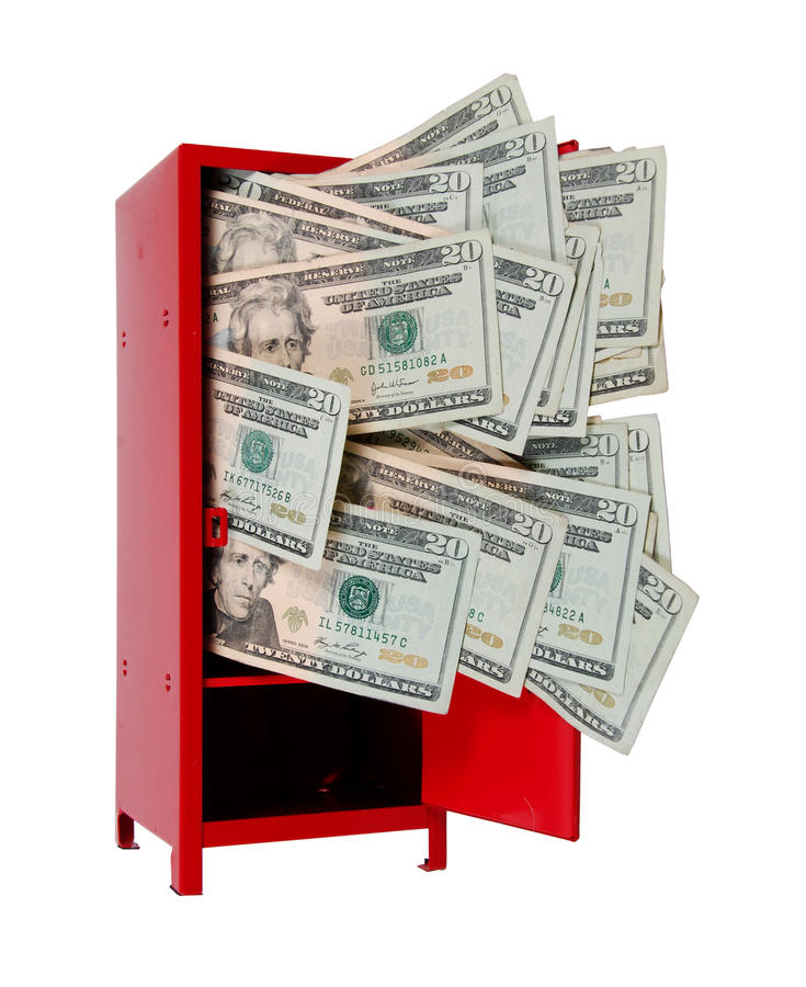Money in Locker stock photography