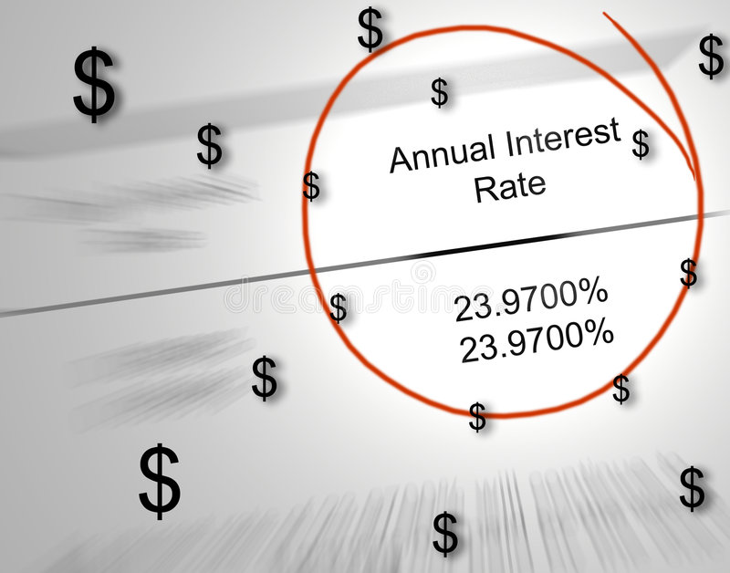 Money Lost To Interest Stock Photography