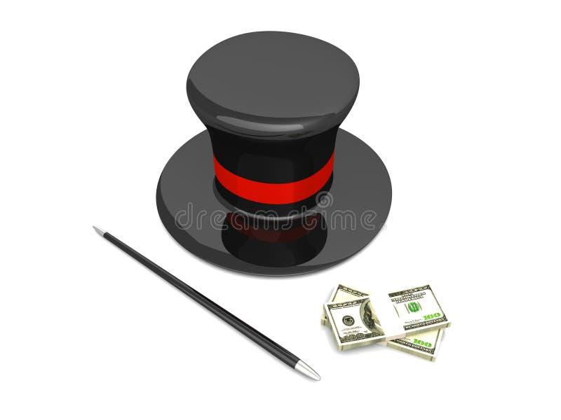 Money magic stock illustration