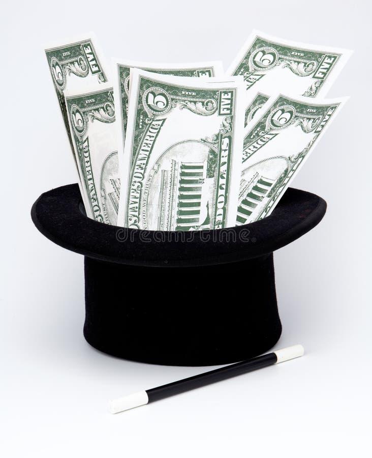 Money by magic art stock photography