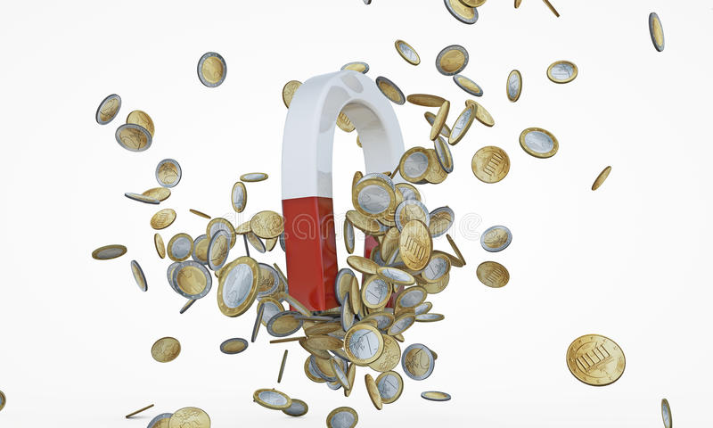 Download Money magnet stock illustration. Image of business, currency - 25493168