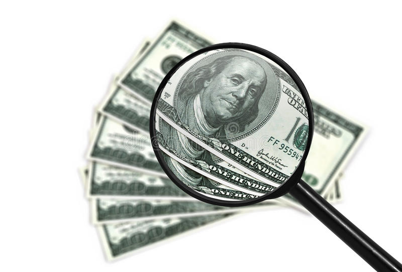 Download Money and magnifying stock photo. Image of analyzing - 28549546