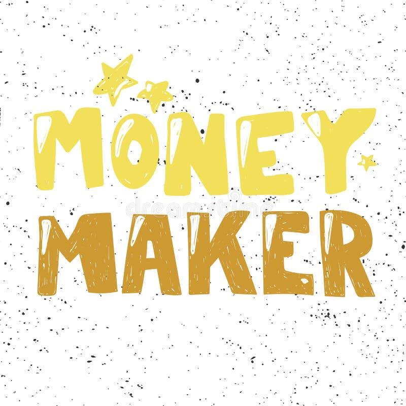 Free Money Maker. Sticker For Social Media Content. Vector Hand Drawn Illustration Design. Stock Photo - 161862350