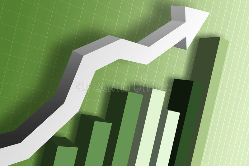 Money Market Chart stock photo