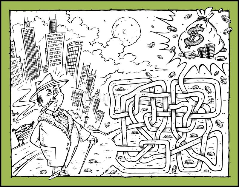 Download Money Maze stock illustration. Image of city, wilderness - 11370305