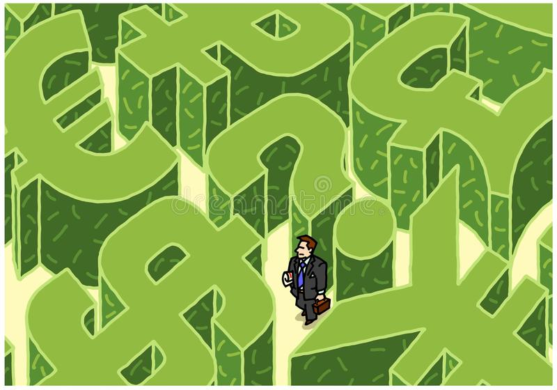 Download Money maze stock illustration. Image of found, dollar - 31589542