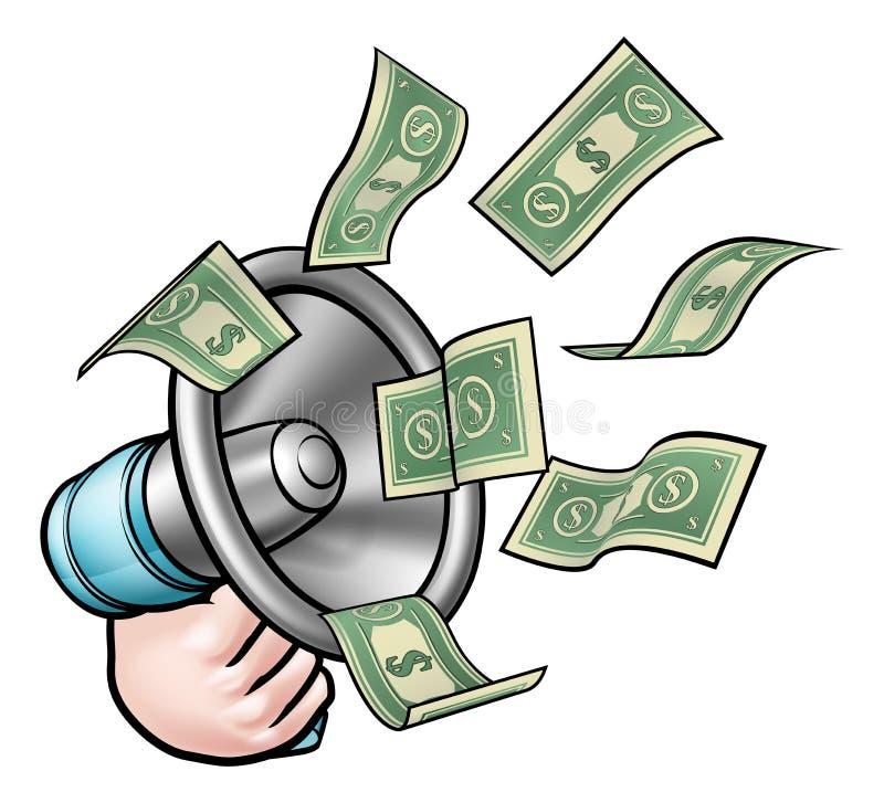 Money Megaphone Stock Vector. Illustration Of Graphic