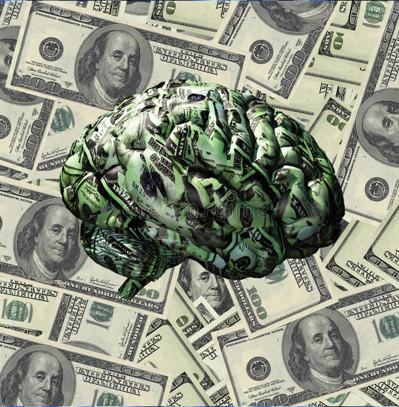 Money Mind vector illustration