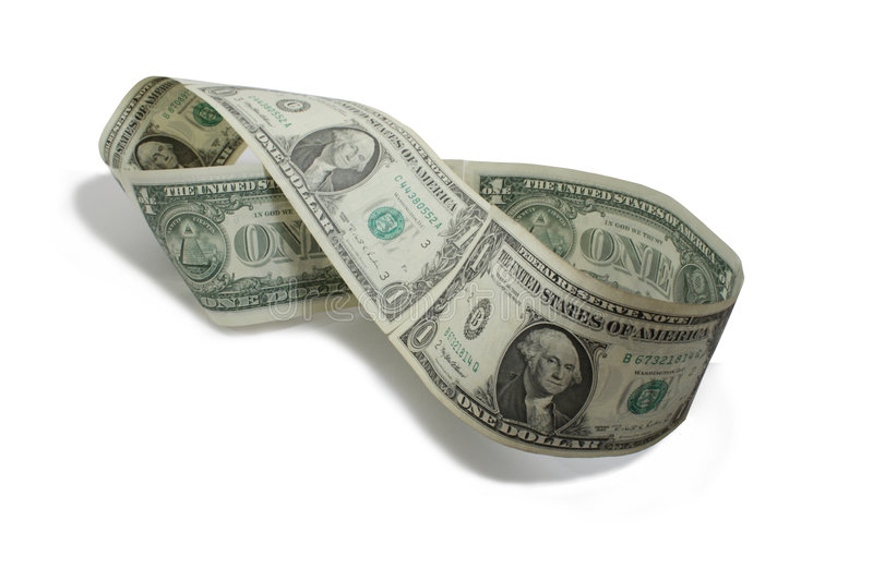 Money Mobius Band royalty free stock photo