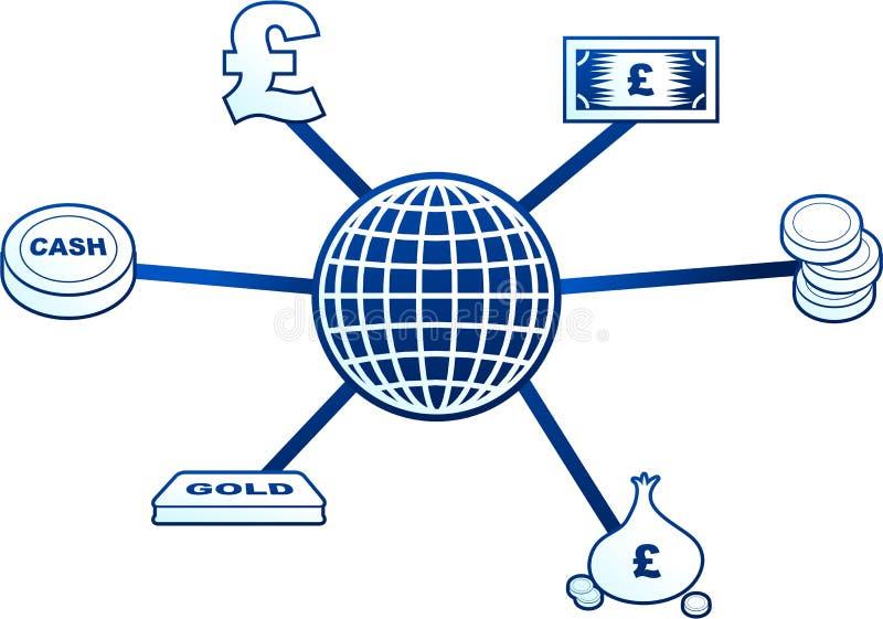 Money molecule vector illustration
