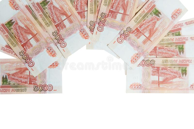 Money. Money from different countries.Travel expenses concept uncropped on white background. royalty free stock photography