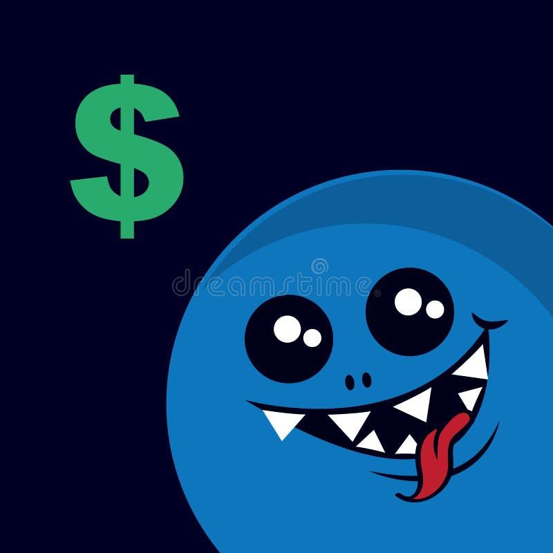 Money Monster Stock Vector Illustration Of Bank Banking 38292313