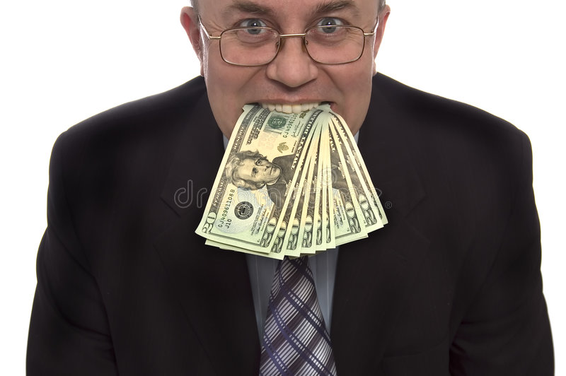 Money In Mounth Stock Photography