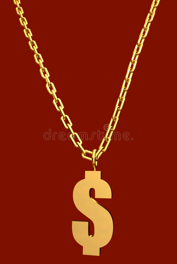 Money Necklace Royalty Free Stock Photography